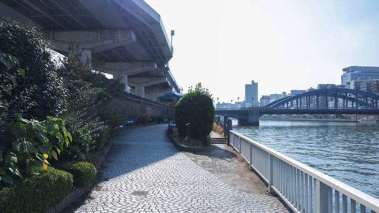 隅田川ランでランステが使える約5キロのランニングコースを寫真巡り