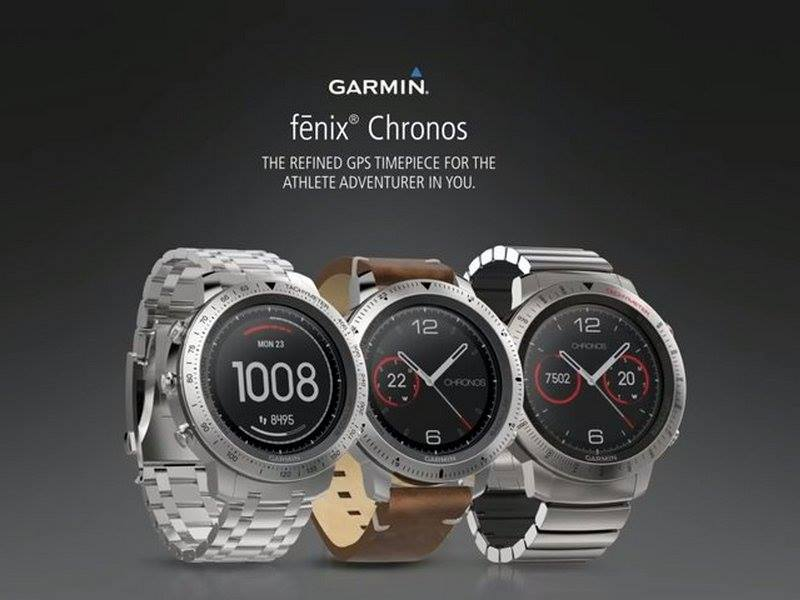 garmin fenix crhonos running gps smart watch reloj