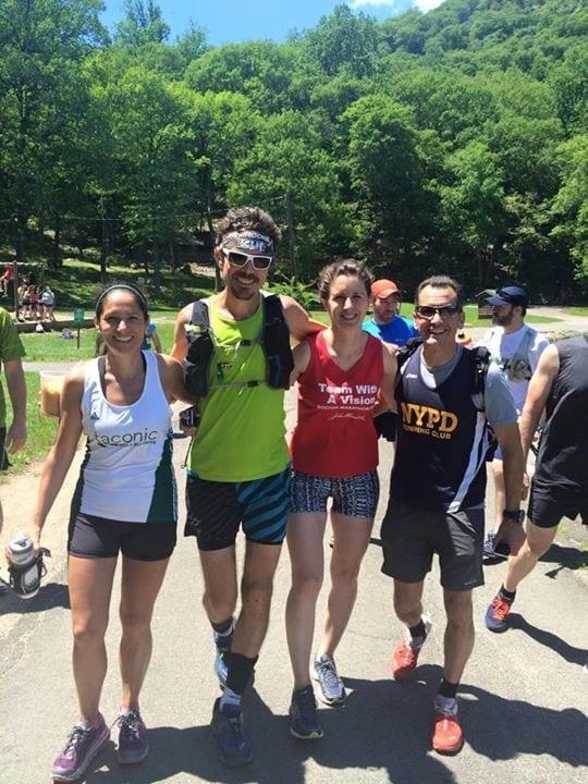 Taconics Bénédicte Uguen and Nick Speranza join Scott Jurek for a jog