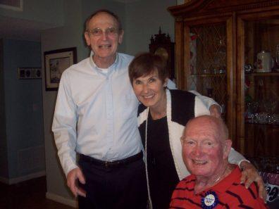 Tom McCrudden (Owen's brother), Katie Quinn, Owen McCrudden on his 80th birthday