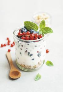 Yogurt and berries are a tasty, convenient and efficient energy source.