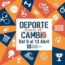 Colaboración UFV de Madrid en su semana del deporte para el cambio