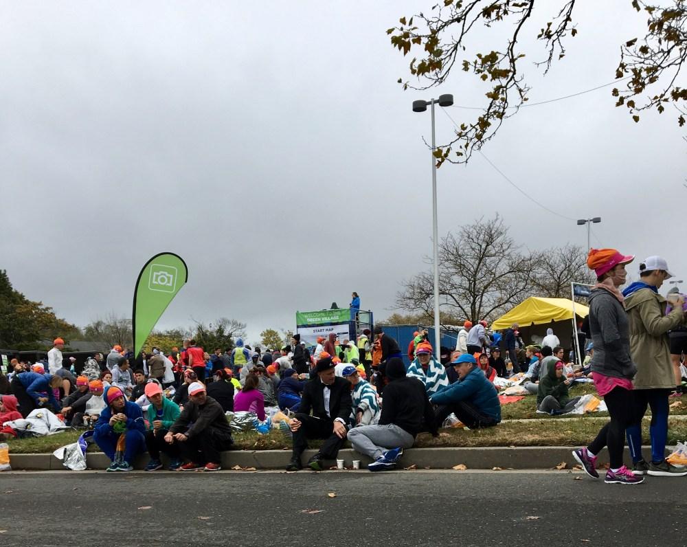 NYC Marathon Start Village