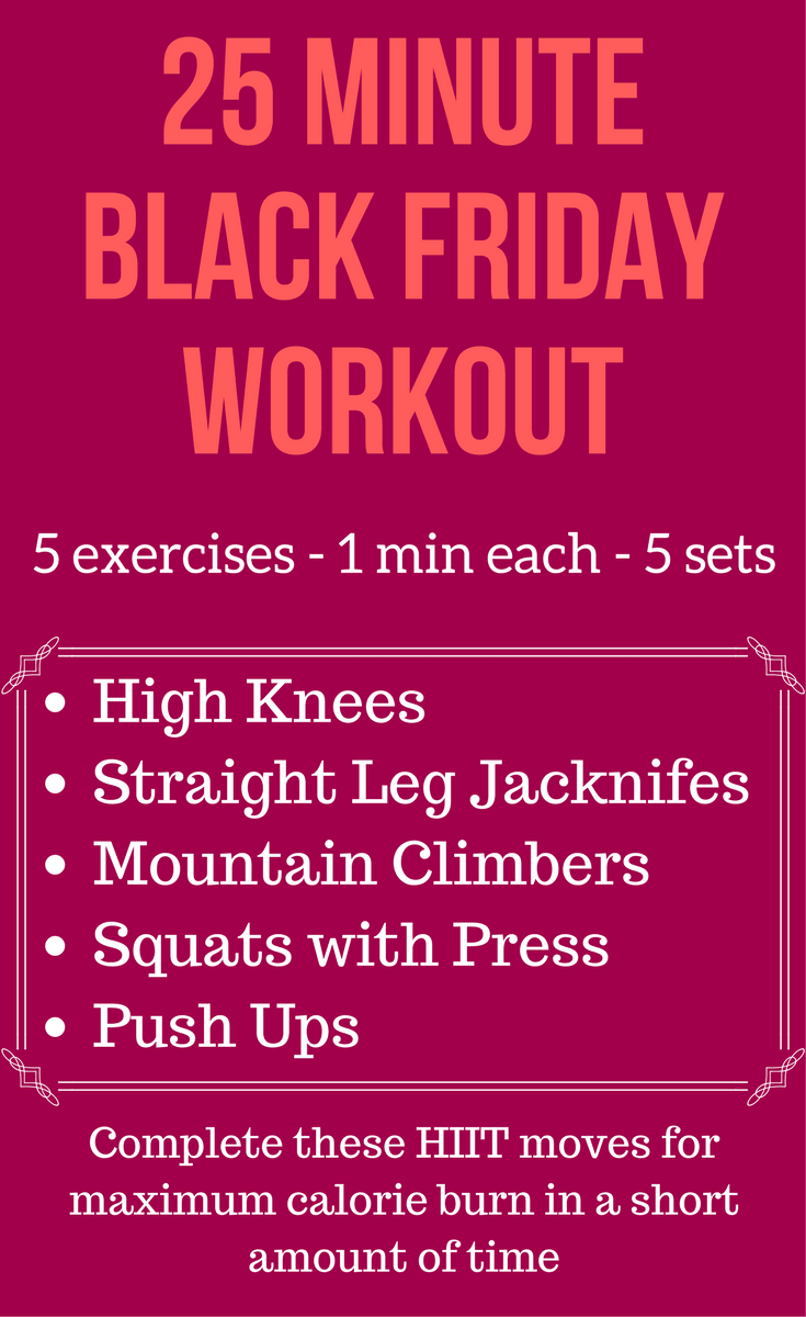 Black Friday Workout Calorie Burn
