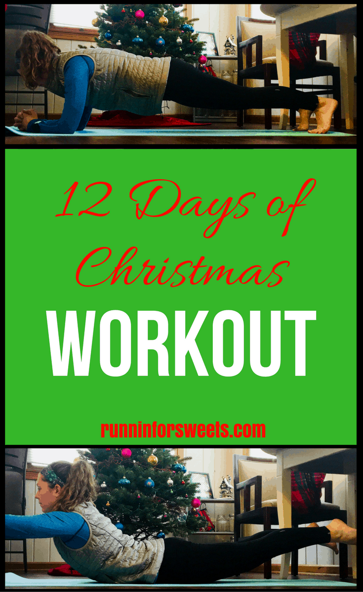 This 12 days of Christmas workout makes exercise fun this holiday season! These full body HIIT exercises are a great way to stay in shape right at home. This fun Christmas workout includes 12 bodyweight exercises to be completed along with the song. This 12 days workout idea is a great fitness challenge for the season! #christmasworkout #12daysofchristmasworkout #athomeworkout #bodyweightworkout