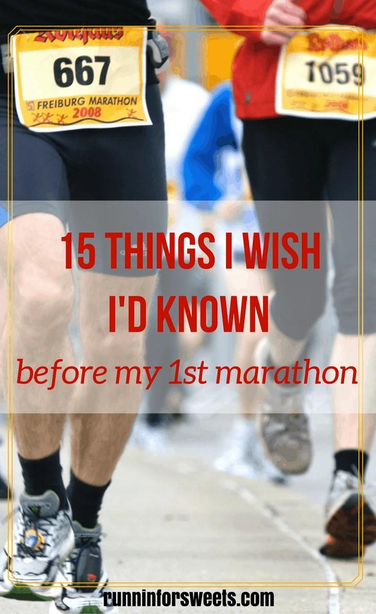 Wish I'd Known Before First Marathon