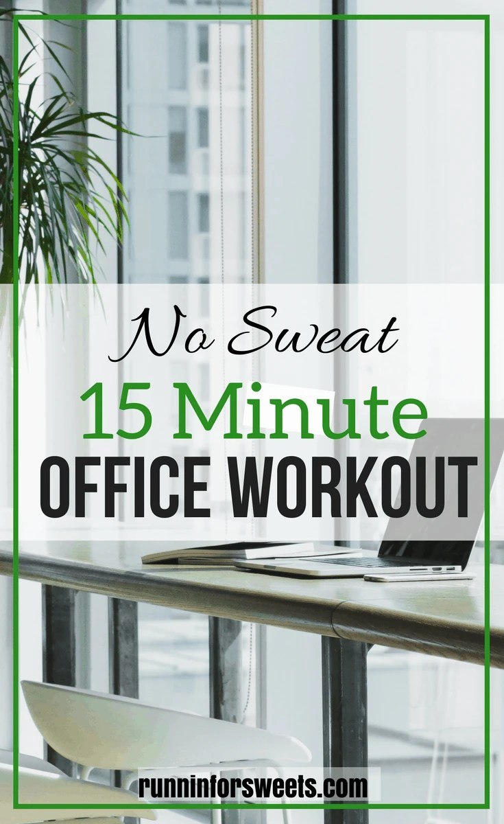 This 15 Minute Office Workout tones the full body without making you sweat. The moves are discreet enough to complete on your lunch break and no equipment is needed other than your desk chair!