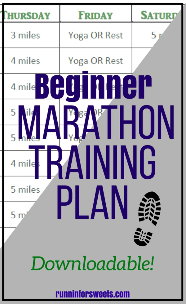 Beginner Marathon Training Plan