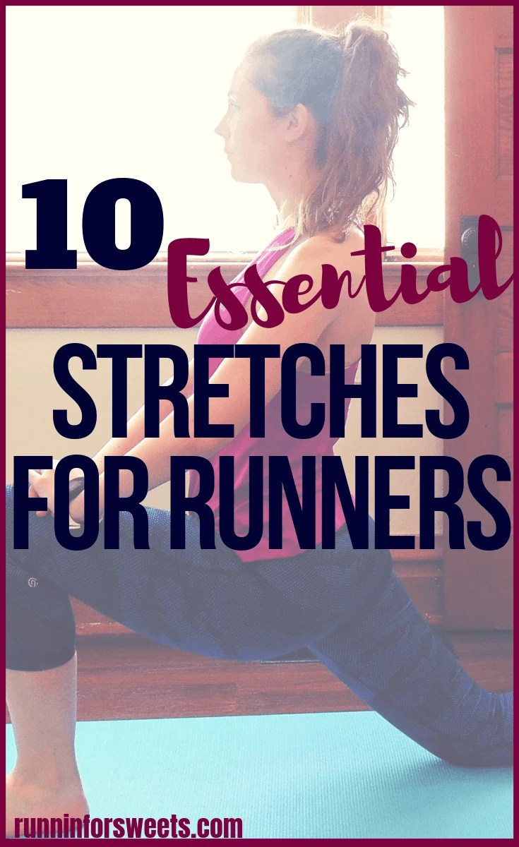 Complete these 10 best lower body stretches for runners after a running workout to stay injury free. These leg stretches are especially important for runners with tight hips or knee pain after a workout. This simple stretching routine targets all the major areas in our lower bodies (hips, calves, thighs and feet) in less than 10 minutes. You will notice a difference immediately with these post run stretches. #runningstretches #legstretches #runningrecovery #stretchingroutine