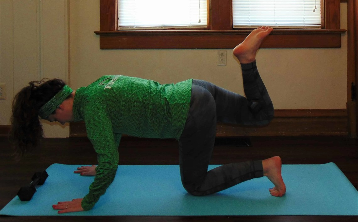 St. Patrick's Day Lucky 7s Full Body Dumbbell Workout: Weighted Donkey Kicks