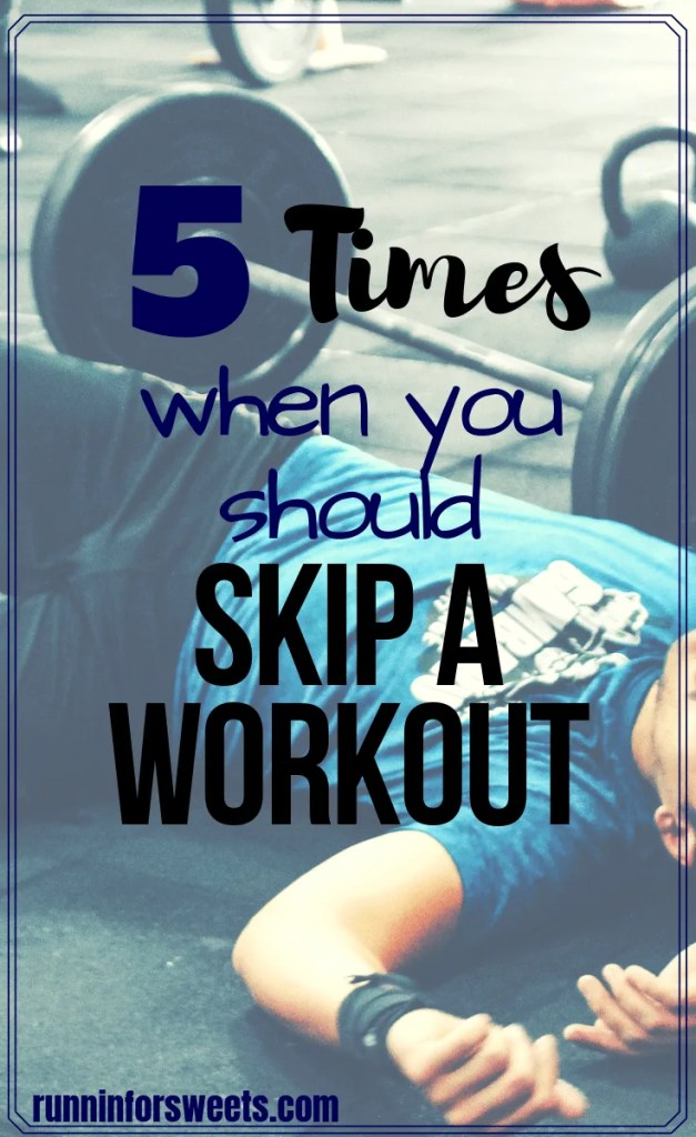 Finding the workout motivation to keep going when you're feeling tired or lazy is tough. However, there are a few legitimate reasons to skip a workout. If you're wondering whether to hit the gym or take a rest day, these 5 tips will help you decide. Sticking to your exercise lifestyle doesn't have to mean pushing yourself to the limits. #skipaworkout #workoutmotivation #fitnessmotivation