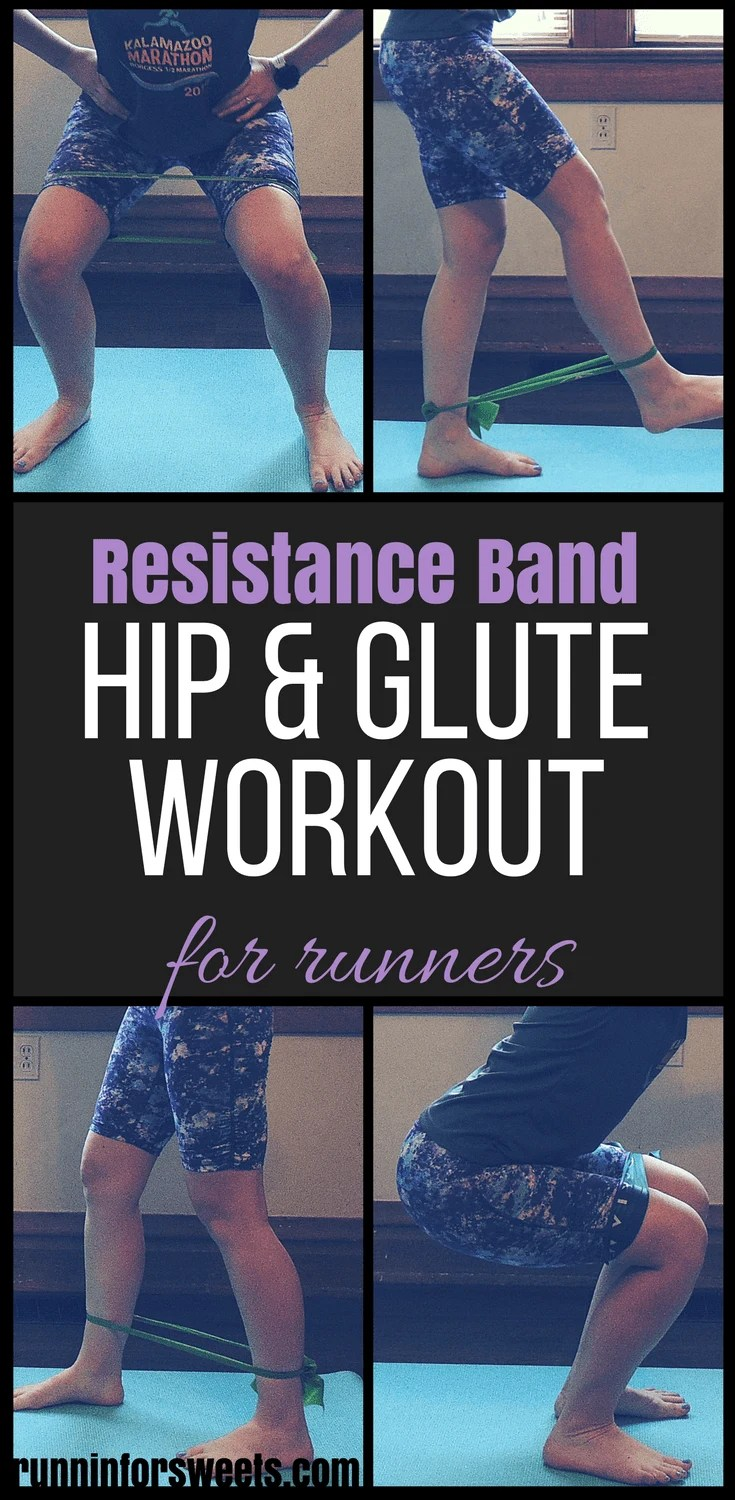 This at home resistance band glute workout contains the best strength training exercises for your lower body. Use the mini band to accentuate all of these leg exercises for a quick and effective strength training workout. These resistance band exercises can be completed at home to strengthen your glutes and give power to your running. #resistanceband #gluteworkout