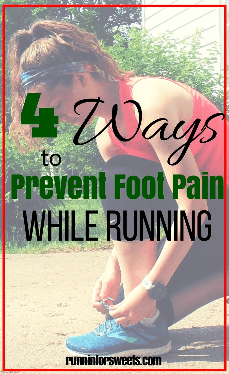Nagging foot pain while running can be so discouraging. Fortunately, there are a few simple things you can do to prevent this from occurring and treat foot pain when it does. Here are a few causes of running foot pain, and 4 simple tips and exercises to get rid of it! #footpain #runninginjuries