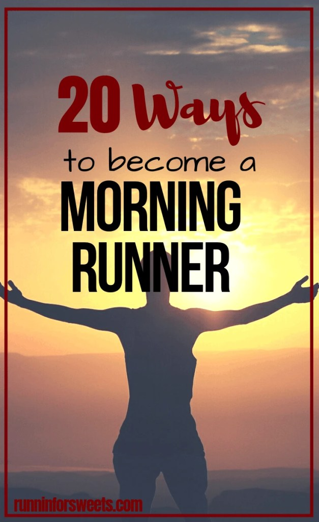 Fitting in a run in the morning is a goal many of us wish to achieve. Luckily, these 20 strategies will help you become a morning runner with ease. Check out these 20 game-changing morning running tips to find the motivation and make fitness the start of each day! #morningrunner #morningrun #morningroutine #earlymorning