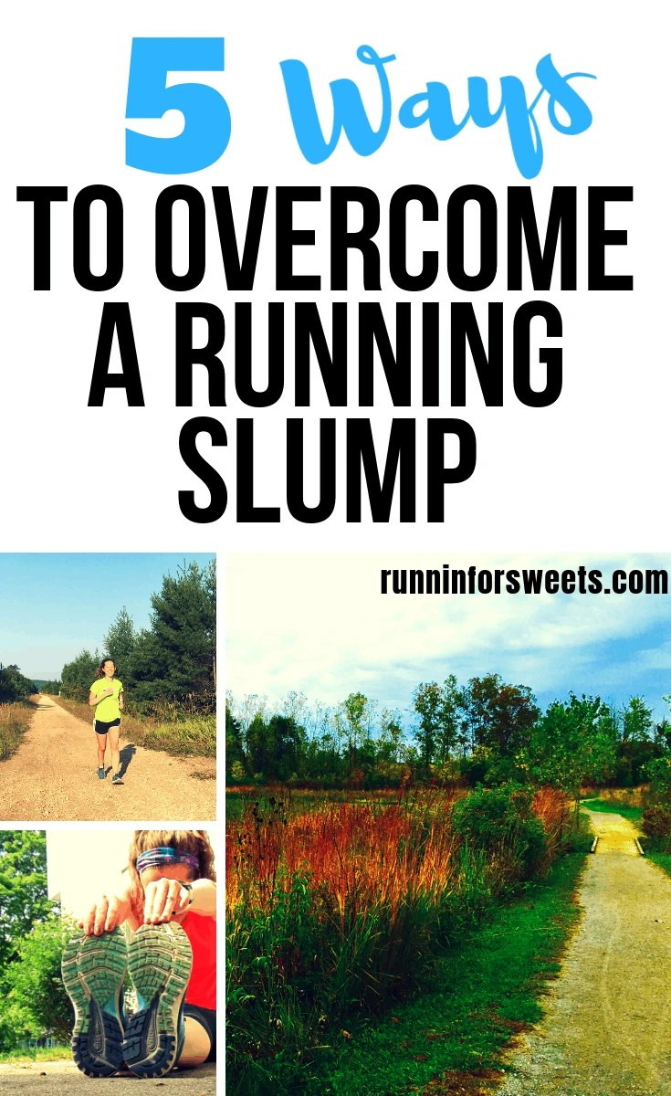 No matter how much we love running, we all find ourselves stuck in a running rut at one point or another. The truth is that it's nearly impossible to stay motivated for life. Luckily, there are a few ways to get out of that running slump. These 5 tips will help you overcome that running slump and rediscover your running mojo in no time! #runningslump #runningmojo #runningtips