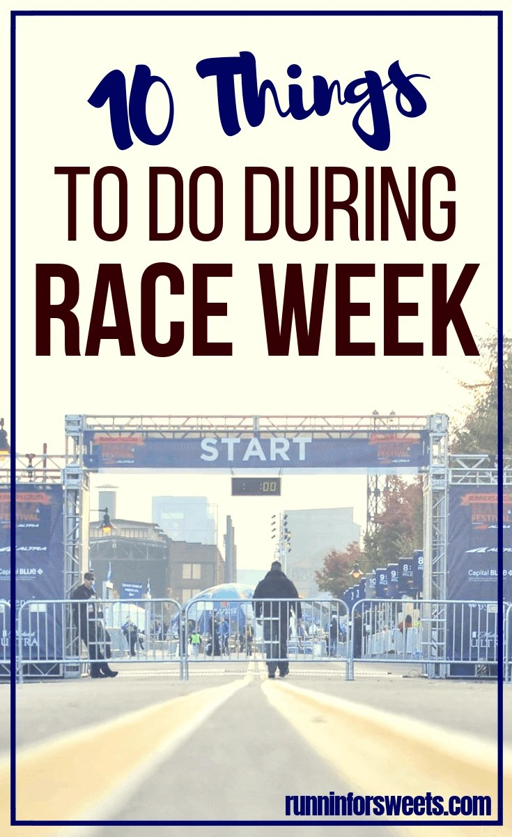 Tips for the Week Leading up to Your Race
