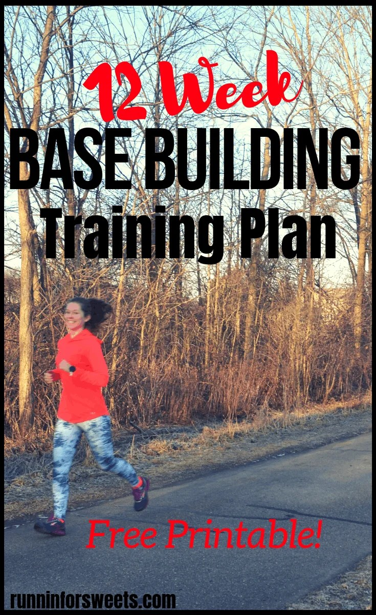Taking the time to build a training base is essential for any runner prior to increasing mileage speed. Download this FREE base building plan to increase your fitness and build stamina before starting a training plan. Start running for the first time or get back to running after taking time off with this base training plan! Use it as a running maintenance plan or to improve your fitness before training for a 10k or half marathon. #runningbasebuilding #runningbasetraining #trainingplan #runningmaintenance