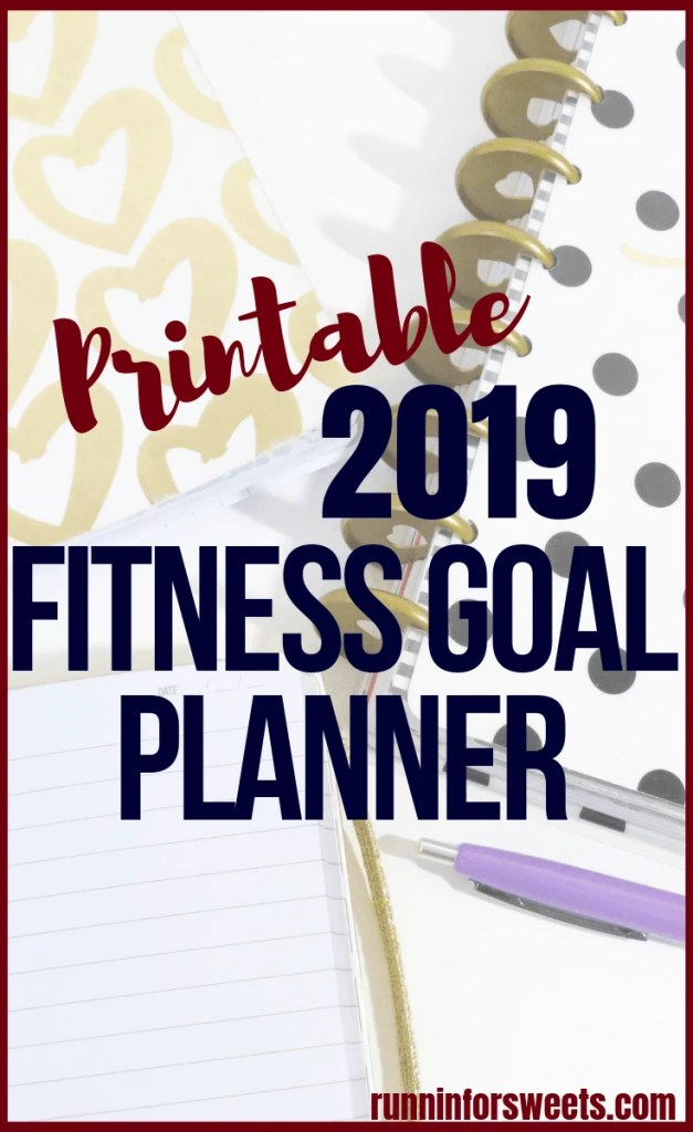 This free, printable fitness goal planner will help you accomplish all of those 2019 resolutions! This goal setting worksheet takes you through 6 steps in a template to help you chart realistic goals. Track your fitness goals with the ultimate goal planning process. #fitnessgoalplanner #fitnessgoalsetting #fitnessgoalplanning