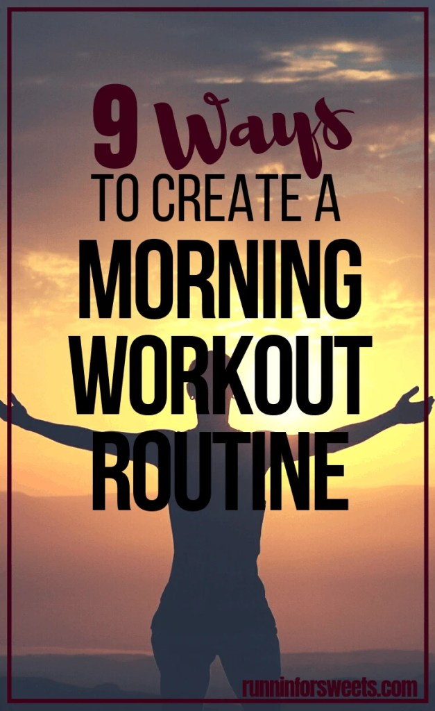 These 9 tips will help you conquer your excuses and finally wake up early to workout. Start a morning workout habit in no time with these simple strategies! Developing a morning exercise routine isn't only meant for morning people. Learn how to wake up with ease and create that healthy lifestyle you've always wanted! #morningworkout #morningexercise #earlymorningworkout #earlymorningtips