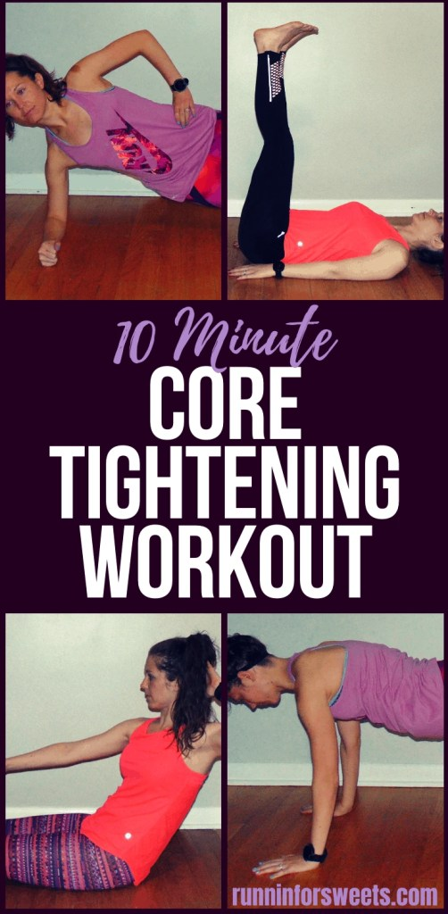 This 10 Minute Core Workout is an effective way to tighten your core right at home. Each core exercise requires no equipment and will help you strengthen your abs for a flat stomach. Gain strength and tone your belly in just 10 minutes a day! #coreworkout #coreexercises #abexercises