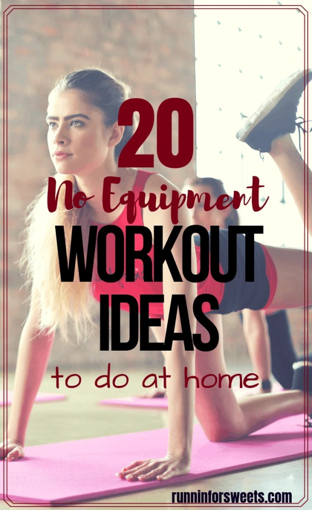 These 20 at home workouts are the perfect way to improve your fitness! Choose from a variety of workouts that target the full body, abs, arms, and legs. Each workout is an effective way to burn fat and tone your muscles right at home. #athomeworkouts #noequipmentworkout #workoutideas