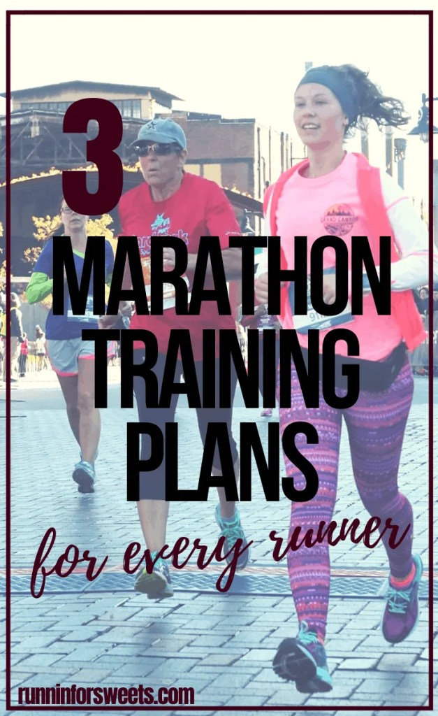 These full marathon training plans are perfect for beginners and intermediate runners. Each training schedule is an instant download with 20 weeks of structured running, speed workouts, tips and strength training exercises. Whether it's your first marathon or you're training for a new PR, these plans will help you conquer your goals! #marathontraining #marathontrainingplan #marathontrainingschedule