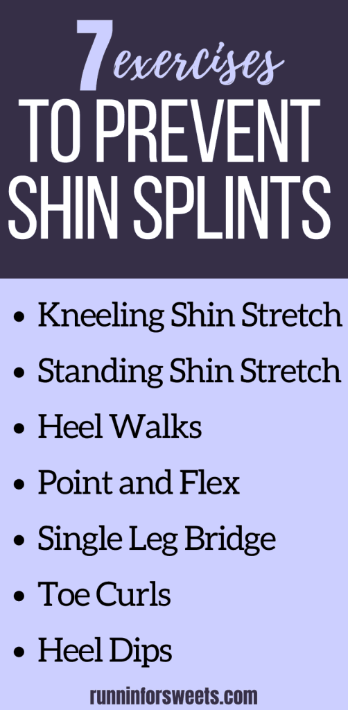 Shin splints are a common source of running pain, but taking the time to get rid of them can be frustrating. Here are a few shin exercises and stretches to help prevent shin splints all together. Quickly treat your symptoms, experience relief, and avoid this running injury during training! #shinsplints #shinpain #shinexercises