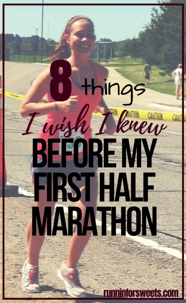 No matter how thoroughly I trained, there were still a few surprises during my first half marathon. Knowing these 8 things beforehand would have set me up for even more confidence and success on race day. These half marathon training tips are game-changing for beginners getting ready to run their first half marathon! #halfmarathon #firsthalfmarathon #halfmarathontips