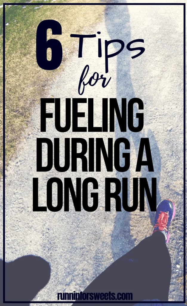 Finding the right running fuel strategy will help you stay strong and energized during any long run. Learn all about long run nutrition, mid-run snacks and how to stay healthy during training with these 6 running fuel tips. #runningfuel #longrunfuel #runningsnacks #longruntips