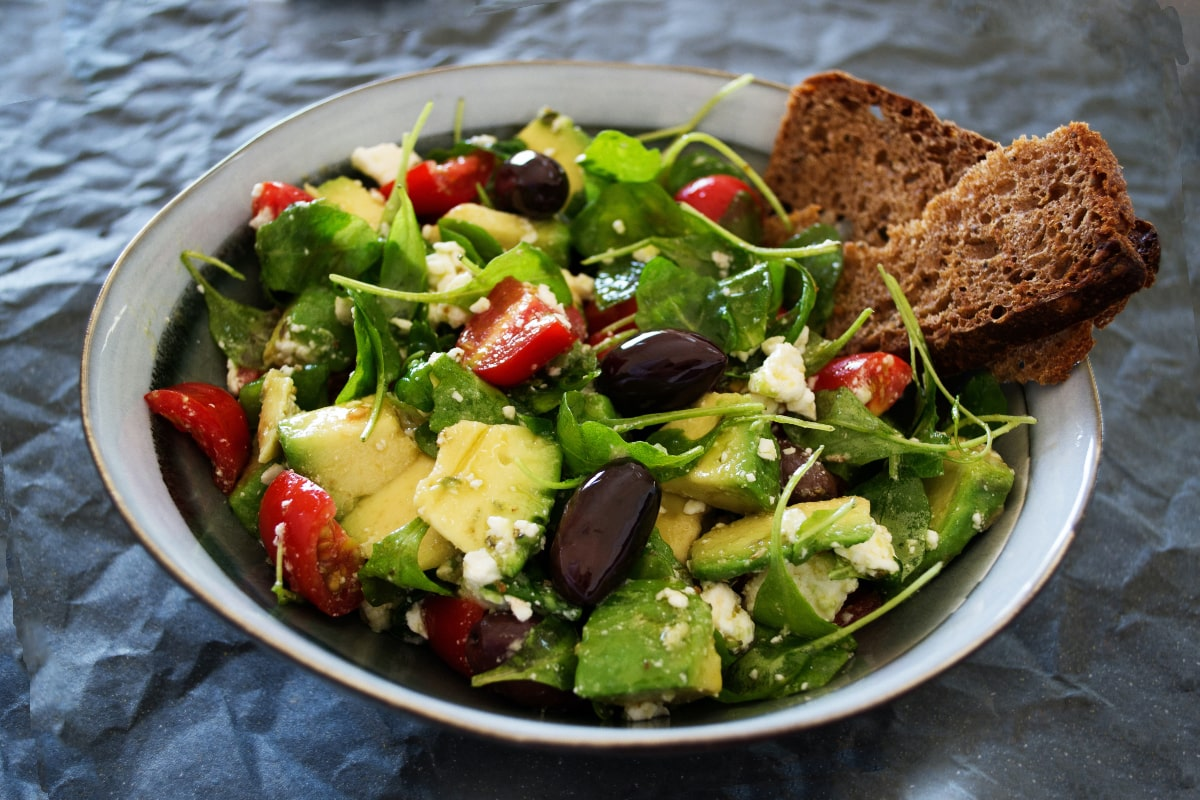 Glycemic index and running - salad