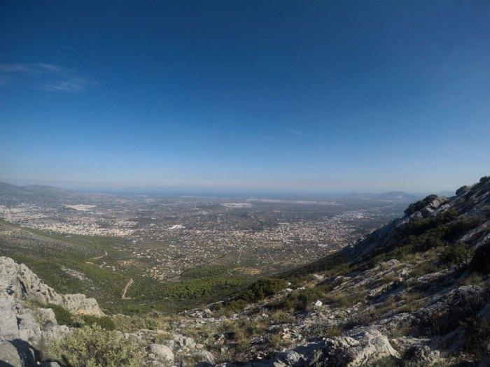Υμηττός θέα Αθήνας