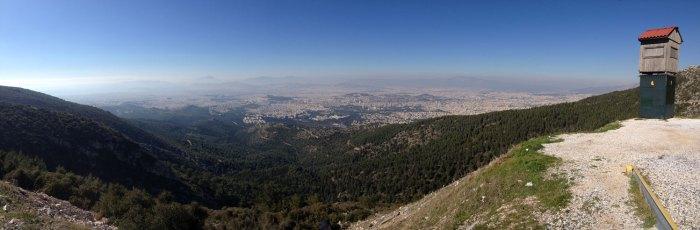 Υμηττός θέα Αθήνας Βουνό Κορυφή