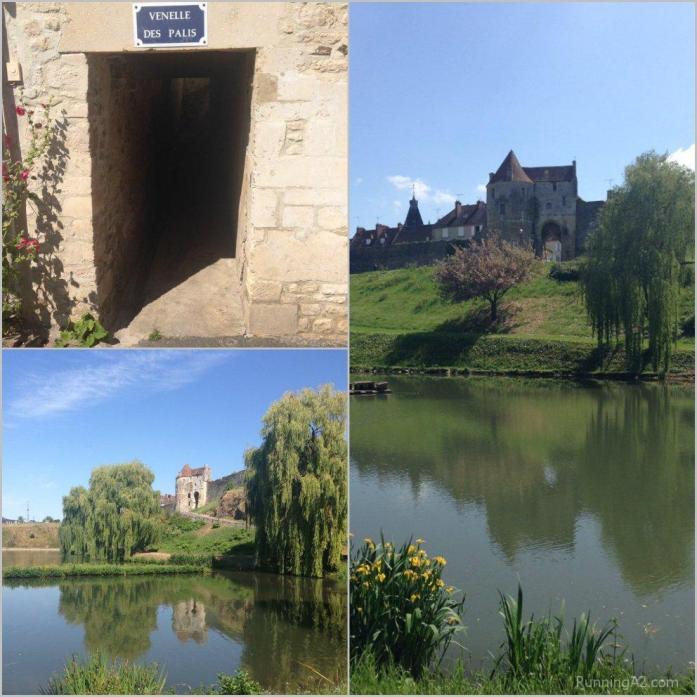 Vues du plan d'eau de Falaise (Porte des Cordeliers), Calvados