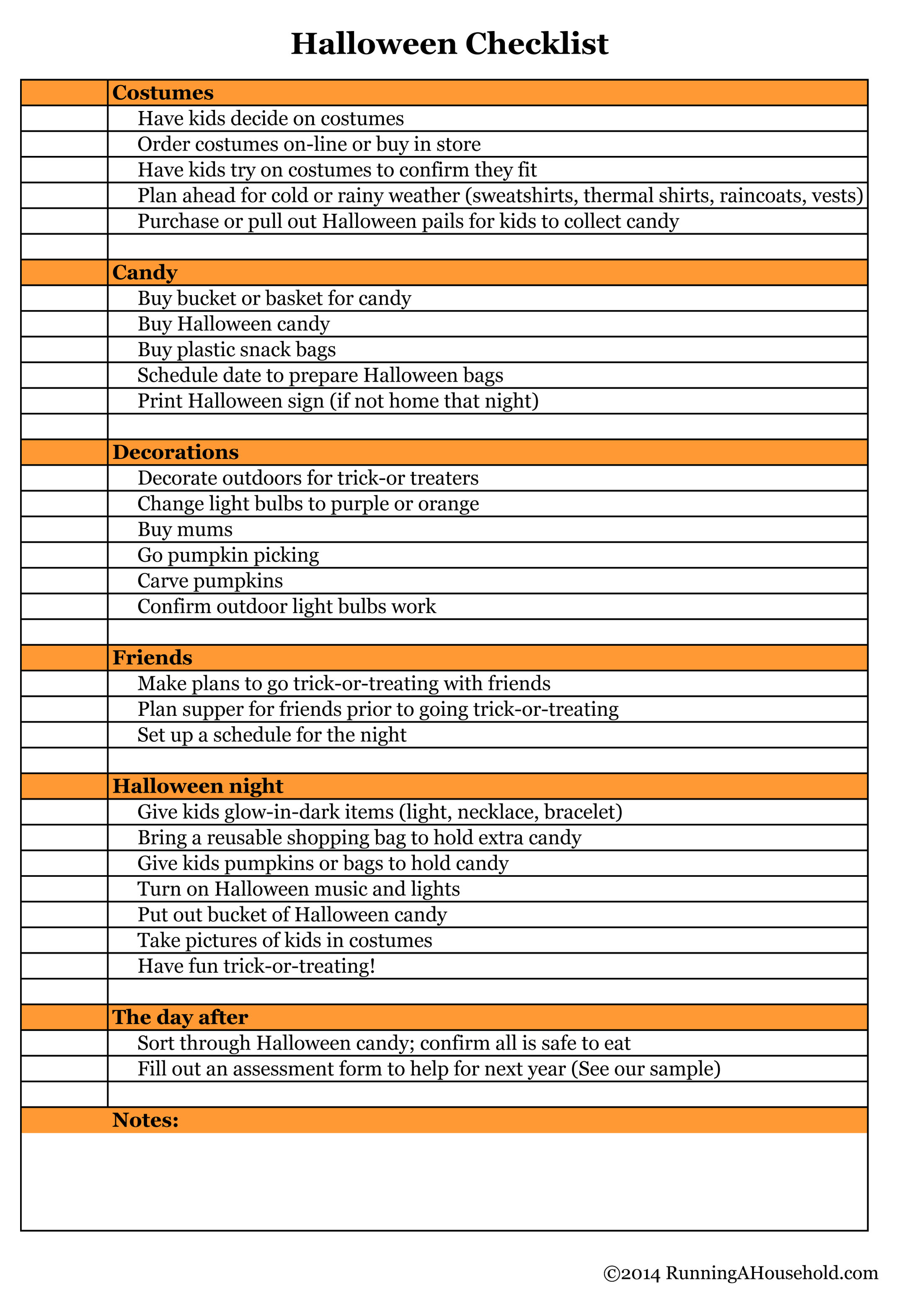 Halloween Checklist Archives