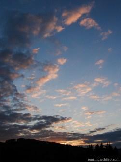 Sunset on Orava, Slovakia