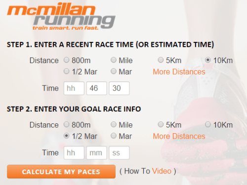 McMillan Running   Calculator 2