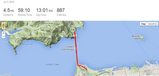 My training run for SF Half Marathon 2014.