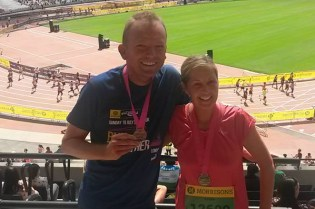 Steve and Karen with their well earned medals