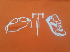 Custom designed triathlon t-shirt