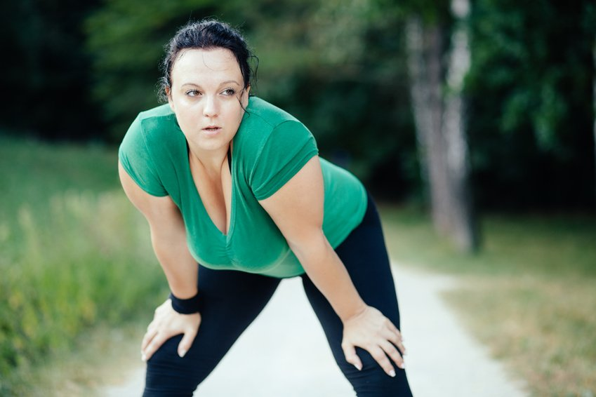 Hardloopster met overgewicht
