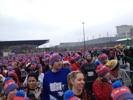 There was a sea of runners topped off with our swag wool hats.