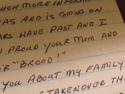 sharon's letter