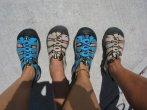 Lana Rae and Brande Keen Sandals