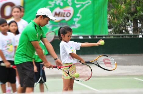 MILO Summer Sports Clinics tennis RFM