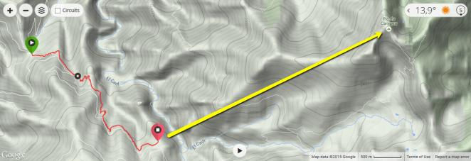 L'ascension vers le Pic du Canigou apparaît sérieusement tronquée.