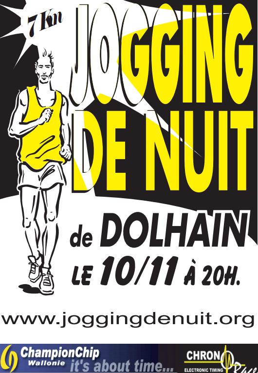 Affiche du Jogging de Nuit de Dolhain