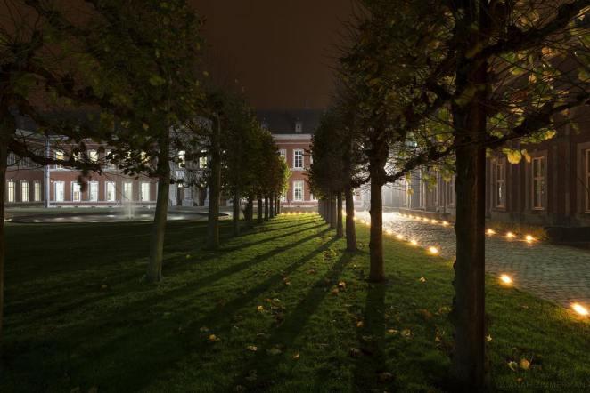 L'Abbaye de Gembloux, de nuit - crédit photo : Quanah Zimmerman (sur Instagram)