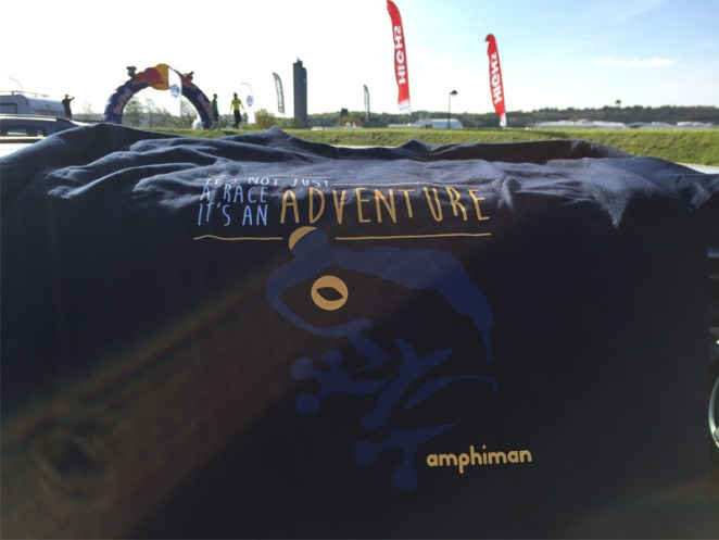 Le slogan de l'Amphiman : it's not just a race, it's an adventure