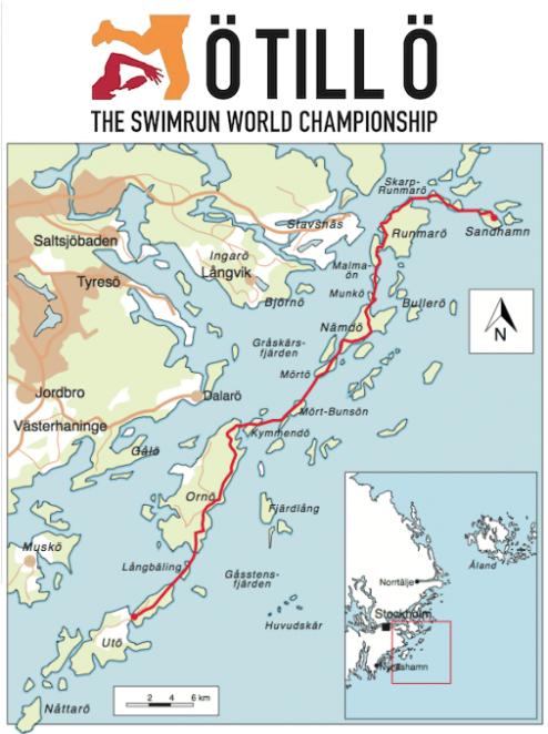Le parcours du Swimrun originel
