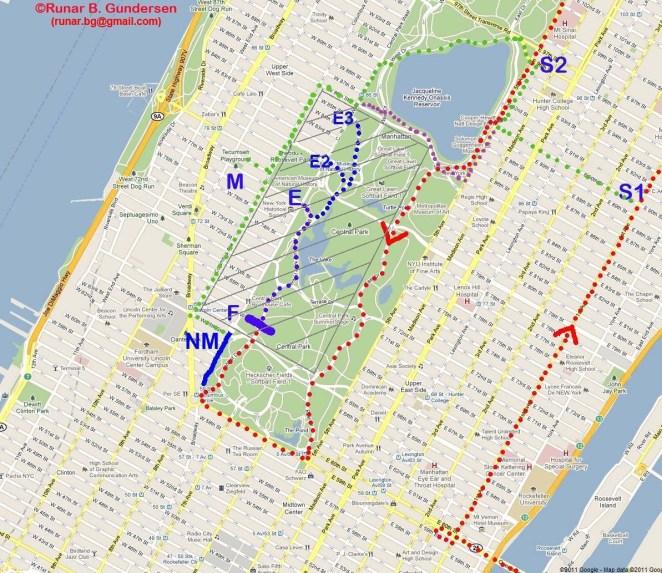 La carte du spectateur. En rouge, le tracé du marathon - crédit image : Runarweb